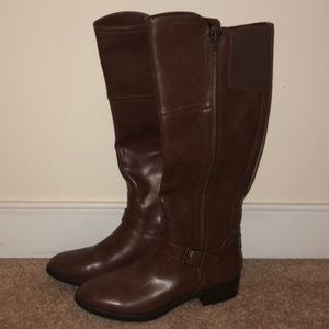 NWOT Merona 8.5 Adeline Brown Tall Riding Boots